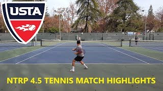 USTA TENNIS - NTRP 4.5 - BEST OF 5 SETS MATCH HIGHLIGHTS - 12/15/2017