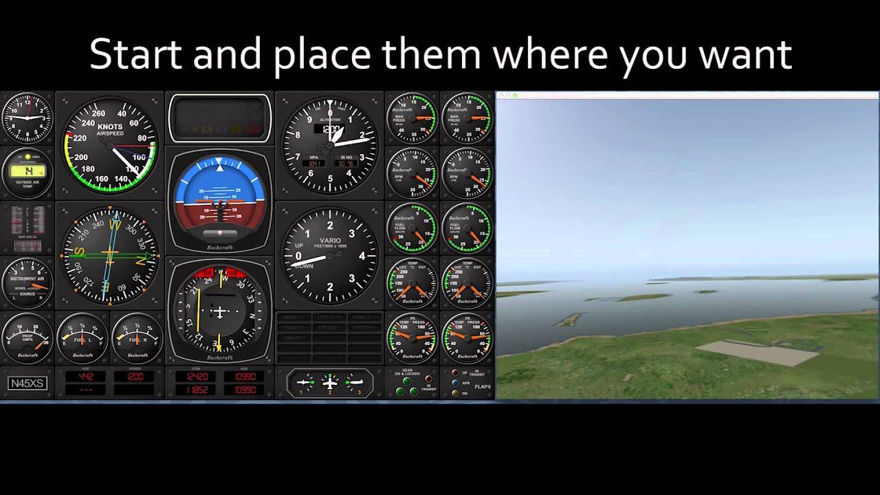 2D instrument panel creation tool: Air Manager - Plugin