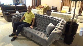 """Видео обзор: Прямой диван """"Буранто"""", обивка велюр"""