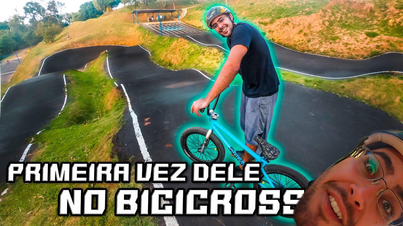 PRIMEIRA VEZ DELE NO BICICROSS!!! - Está aprendendo a andar de BMX do ZERO!!