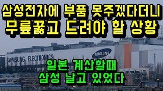 일본 수출허가를 비웃고 있던 삼성
