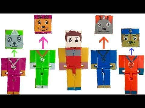 Learning Colors for Children Matching Paw Patrol Block Head Legos | Fizzy Fun Toys