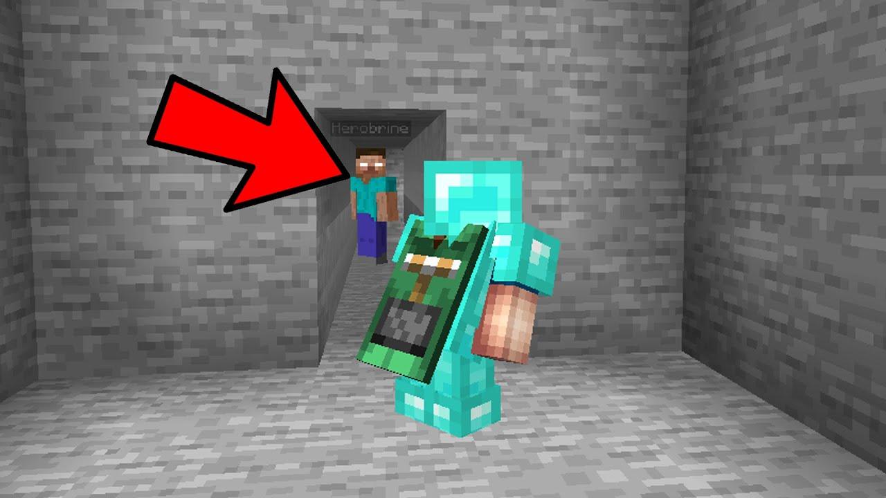 Download Fake Herobrine trolling a minecraft noob
