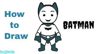 How to Draw Batman Easy | Little Batman Drawing