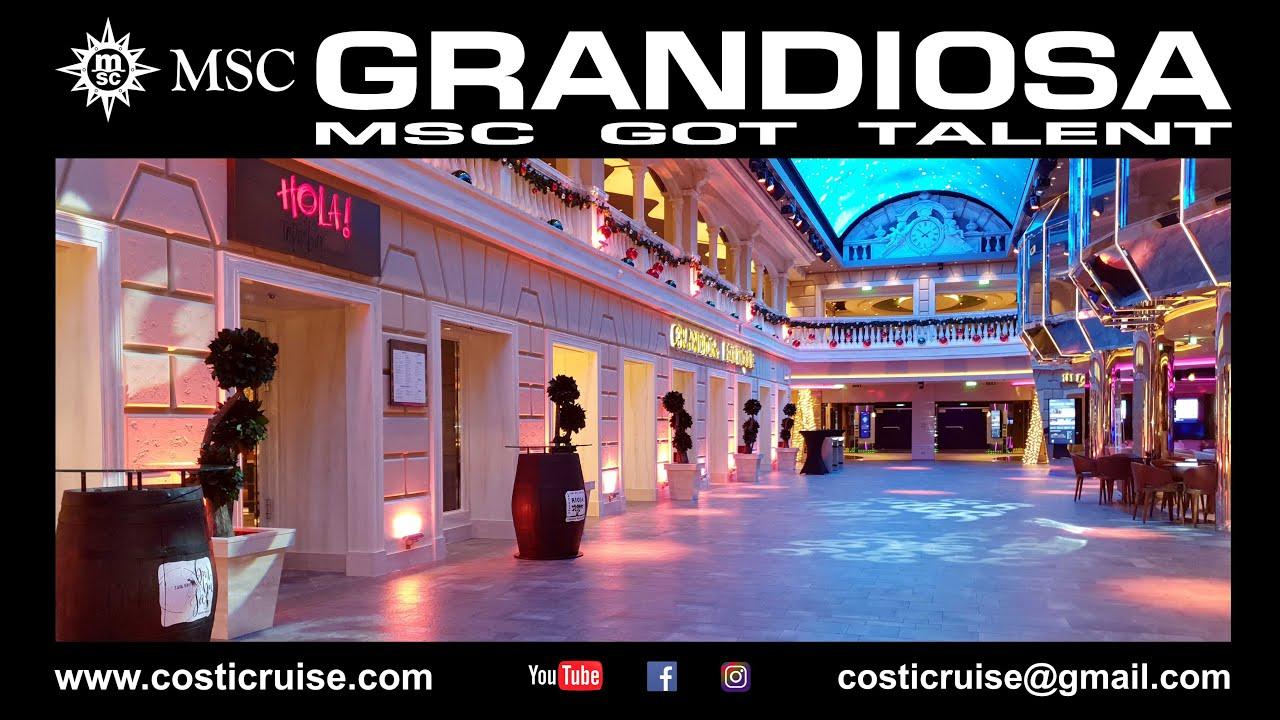 COSTICRUISE & MSC GRANDIOSA Virtual Tour By Costi 4K - YouTube