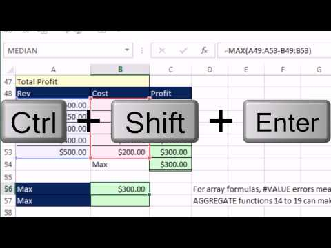 Highline Excel 2013 Class Video 32: Introduction To Array Formulas and Array Functions
