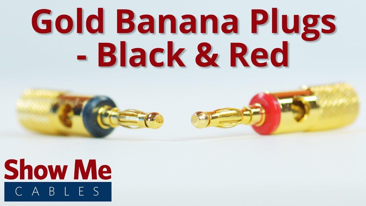medium resolution of banana plugs metal gold black red 469