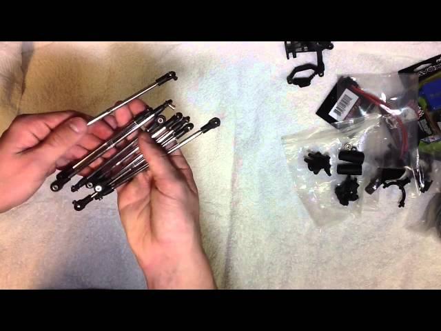 6x6 axial wraith build part 1- unboxing parts