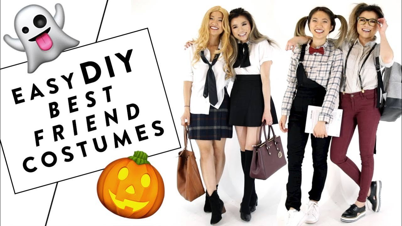 EASY DIY Best Friend HALLOWEEN Costume Ideas ft FashionbyAlly | Miss ...