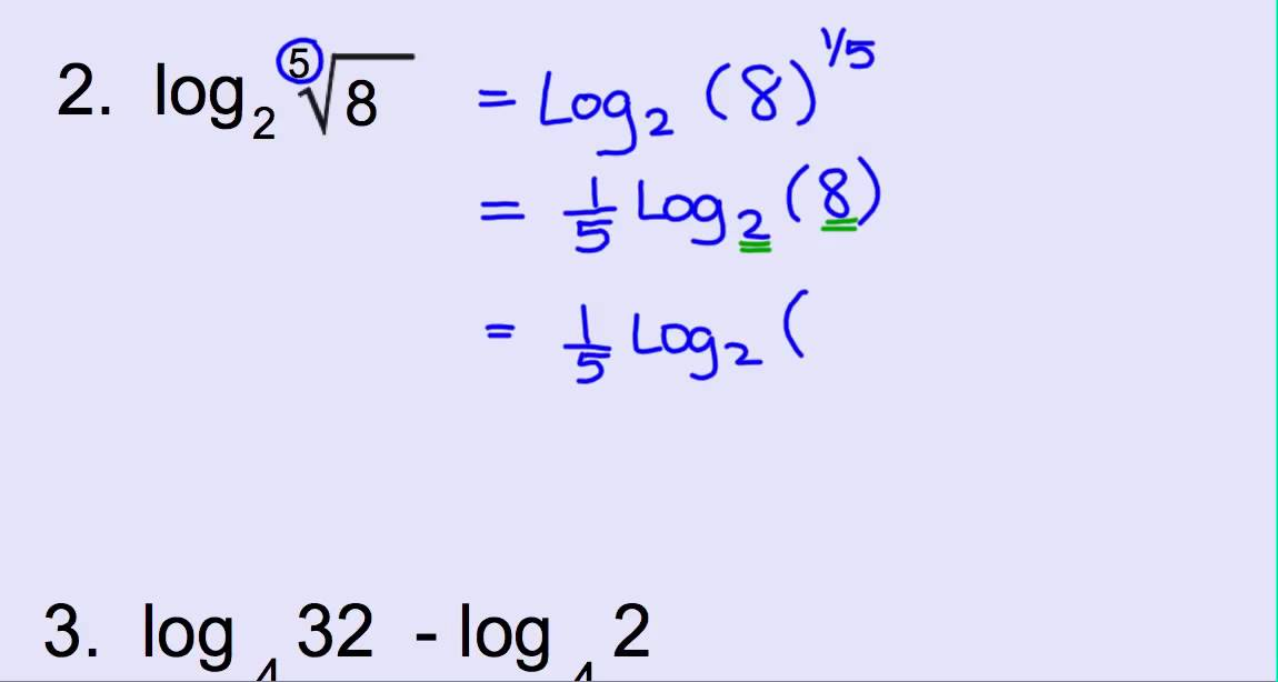 Finding Exact Values of Logarithms - YouTube