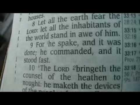 Psalm 33 King James Holy Bible