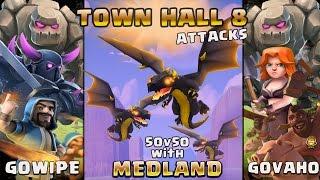 TH 8 Attacks | Medland Clan 50 v 50 War | Clash of Clans