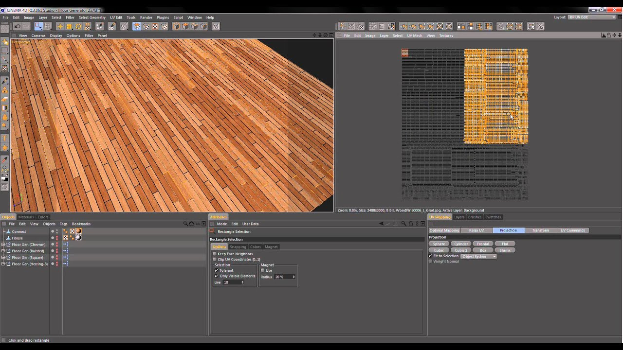 Floor Generator Texturing 2 Photoshop C4D BodyPaint HD ...