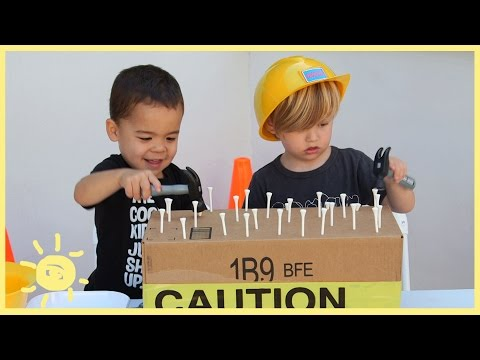 PLAY | 3 Construction Themed Activities (using cardboard!)
