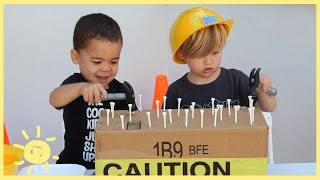 PLAY   3 Construction Themed Activities (using cardboard!)