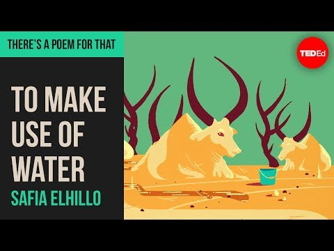 """Video image: """"To Make Use of Water"""" by Safia Elhillo"""