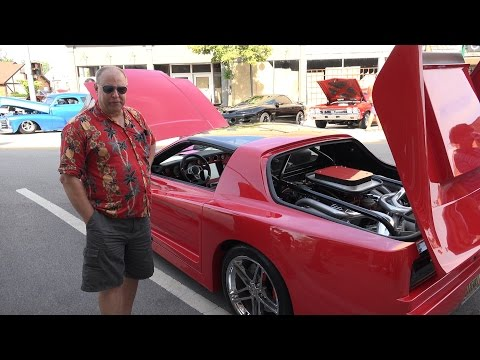 1982 Pontiac Firebird - rear engine complete modification  - MUST SEE - Morris Car Show