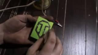 Травление металла. Брелок WOT. Часть1-Трафарет.(В этом видео описан способ переноса рисунка на металлическое изделие для последующего травления электроли..., 2016-11-24T02:24:51.000Z)