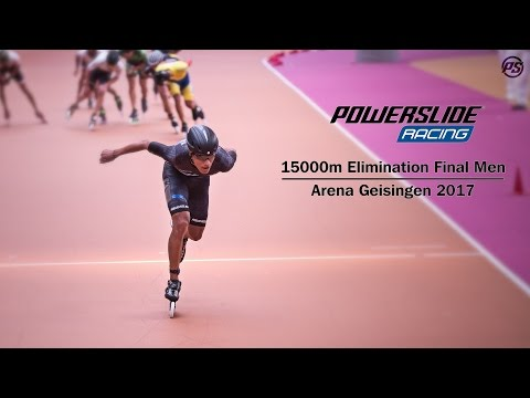 15000m Elimination Final Men - Arena Geisingen 2017 - Powerslide Racing Inline Skates