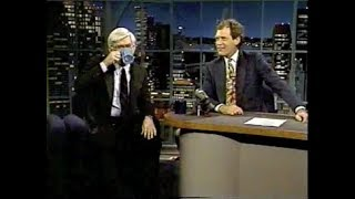 Phil Donahue on Letterman, March 19, 1991