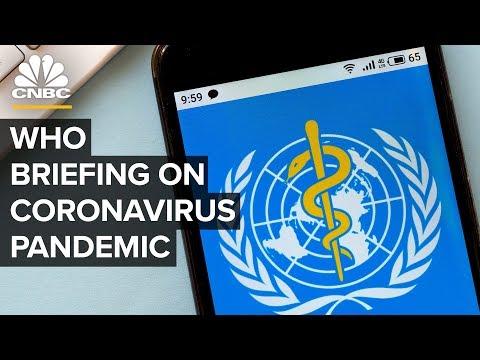 World Health Organization briefing on the coronavirus pandemic - 3/18/2020