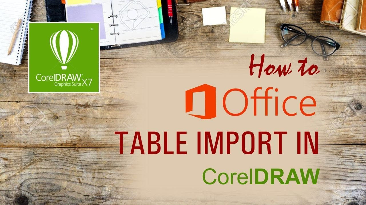 how to import ms office file in coreldraw hindi