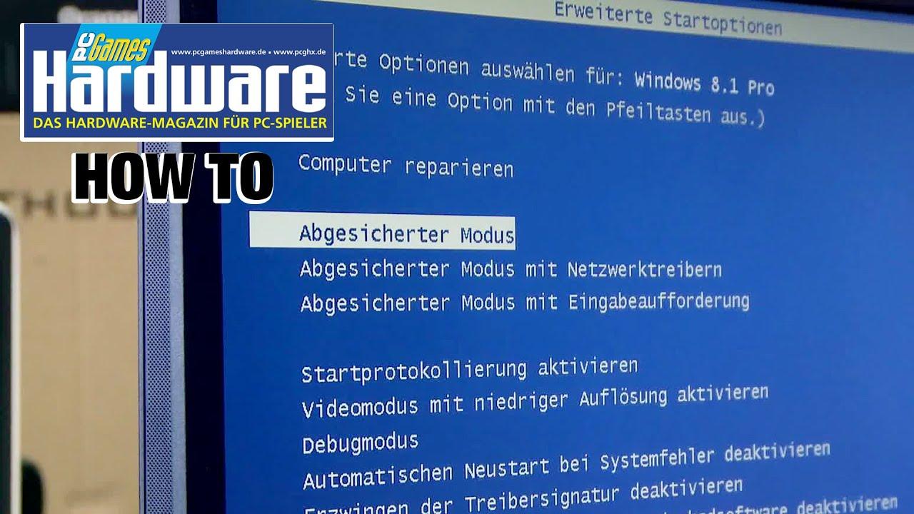abgesicherter modus windows 8