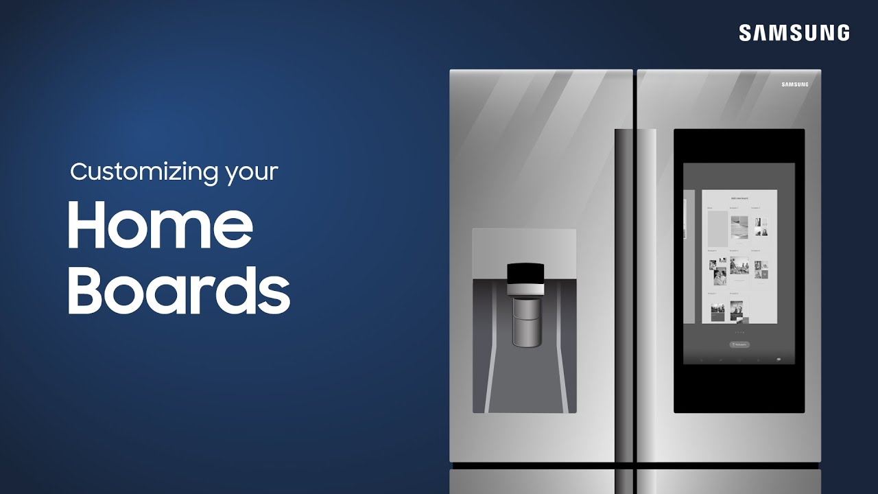 Customize your Family Hub home boards | Samsung US