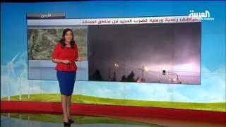 عواصف رعدية ورملية تضرب العديد من المناطق في الأردن