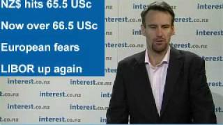 90 seconds at 9 am: Dow and NZ$ slide on North Korean, European fears; LIBOR up again