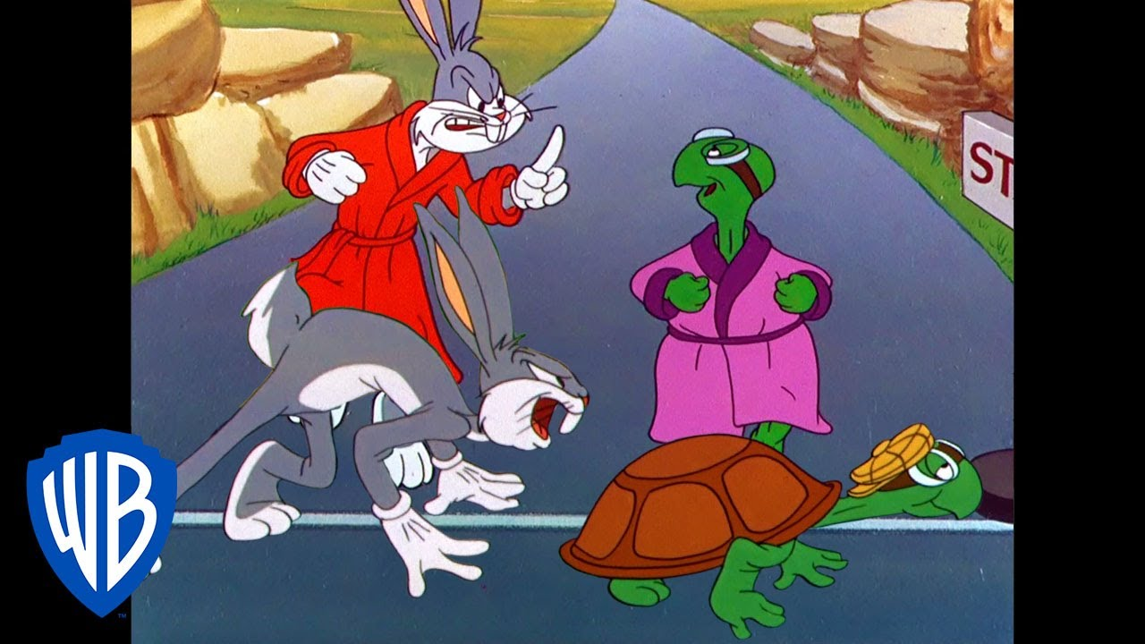 Looney Tunes | The Hare and Tortoise Re-Race | Classic Cartoon | WB Kids