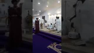 The Moment Ooni Of Ife's Stood Up As His New Wife Prayed In The Name Of Jesus