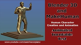 Blender MakeHuman 3D Human Character Turntable Animation by VscorpianC