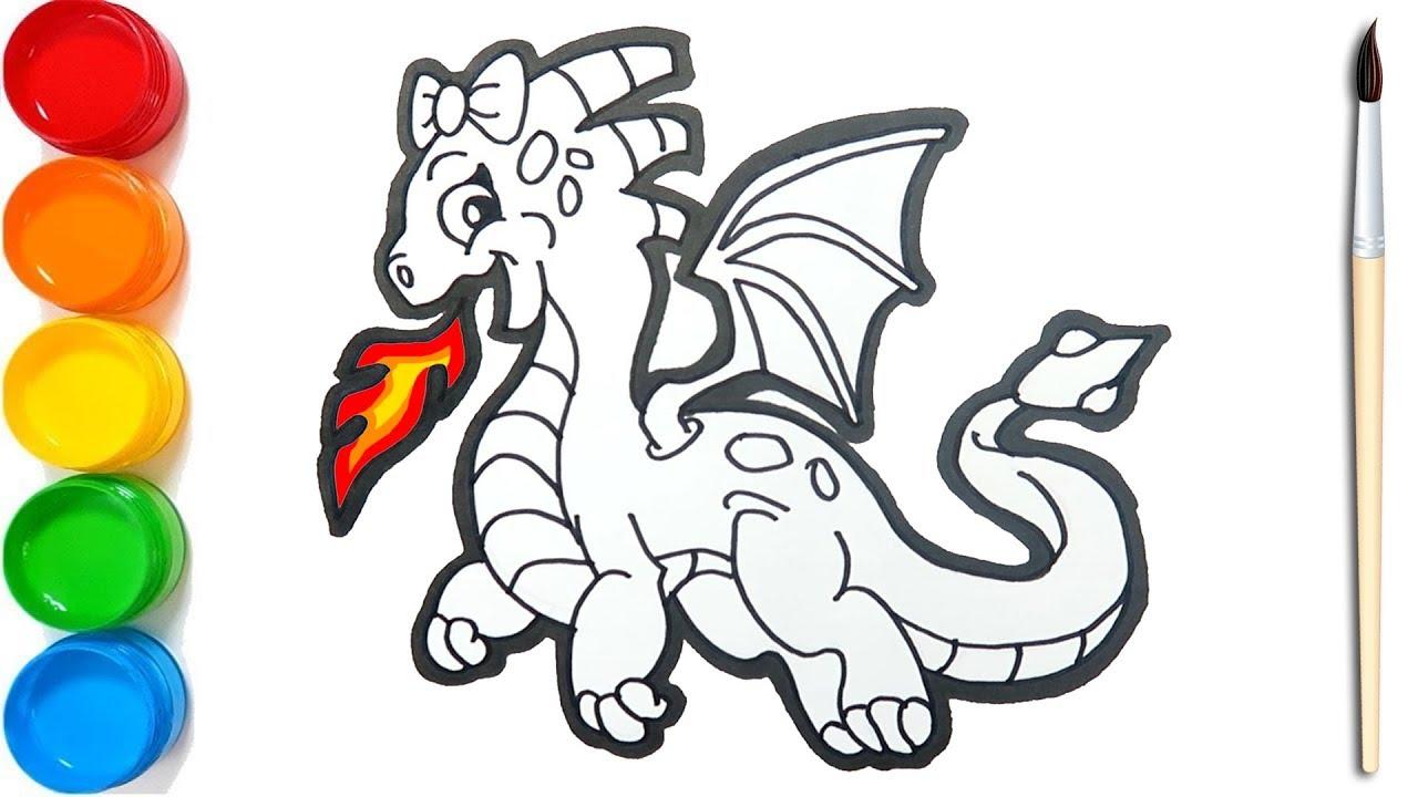 Naga Api Belajar Menggambar Dan Mewarnai Untuk Anak Coloring Pages