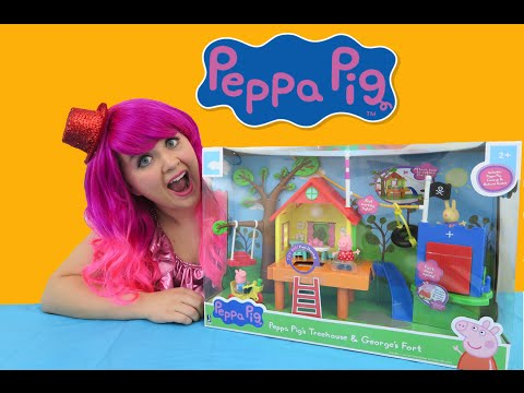 Peppa Pig's Treehouse & George's Fort   TOY REVIEW   KiMMi THE CLOWN