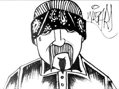 How to draw a cholo gangster witha bandana - YouTube