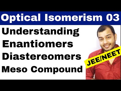 Isomerism 11 || Optical Isomers 03 || Enantiomers , Diastereomers, Meso , Total Isomers JEE/NEET
