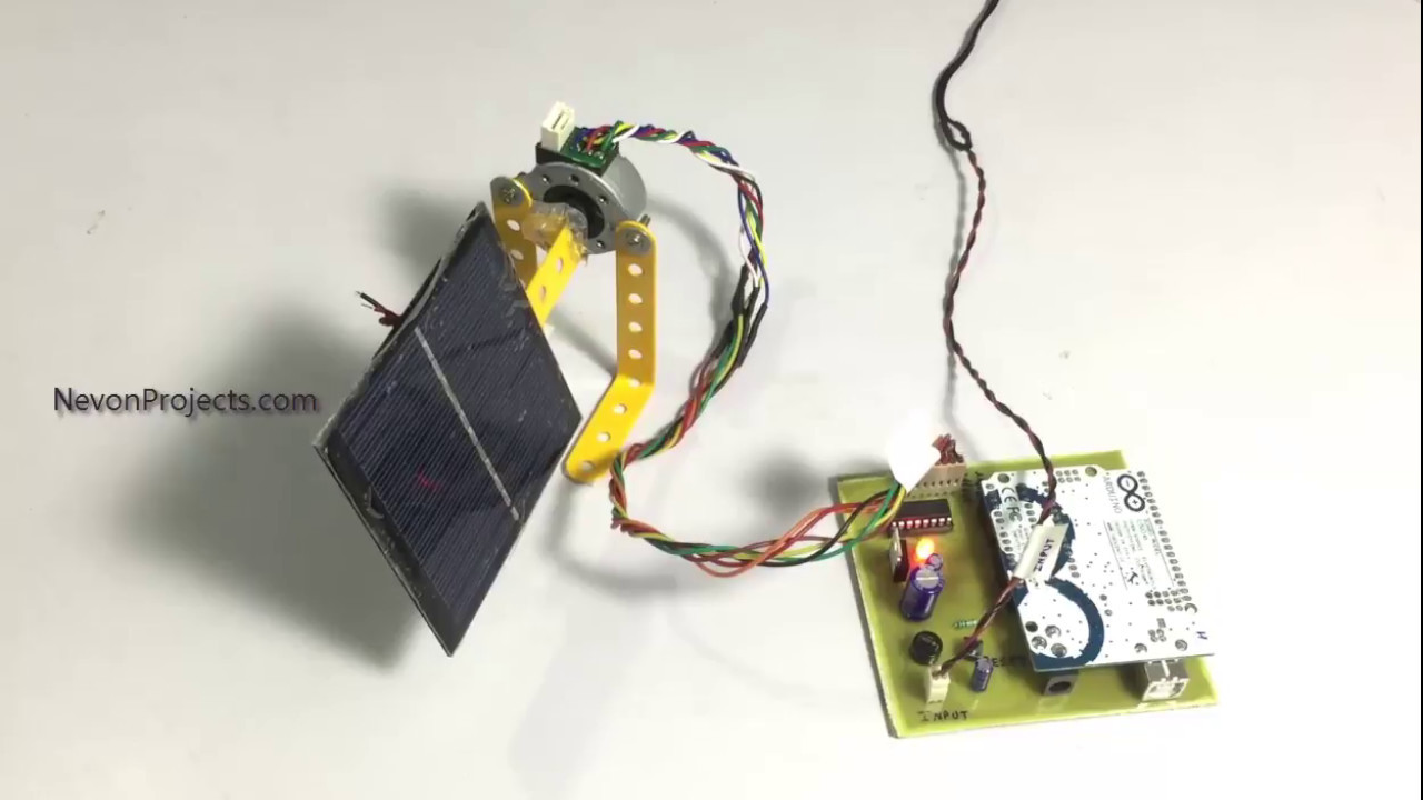 Sun Tracking Solar Panel Using Arduino Youtube System Microcontroller Based Projects Nevon