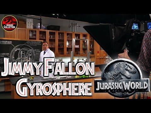 Jimmy Fallon Gyrosphere | JURASSIC WORLD | Behind the Scenes | Chris Pratt