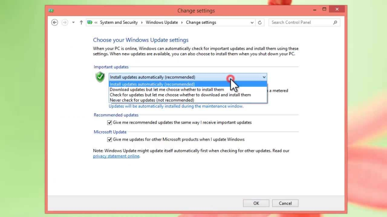 windows 8 update turn off