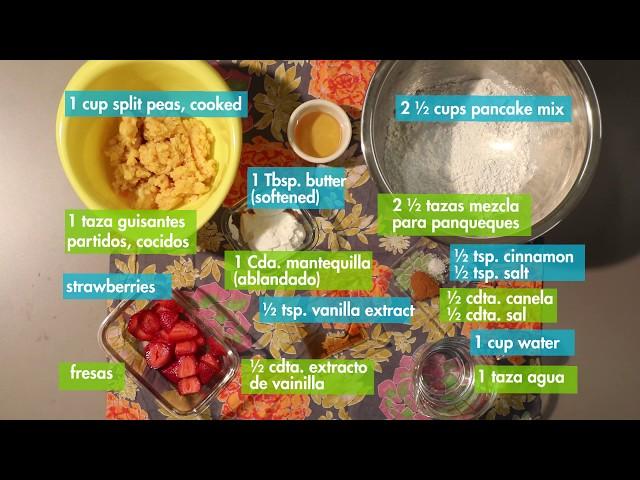 Sweet Pea Pancakes / Panqueques de Guisantes Dulces