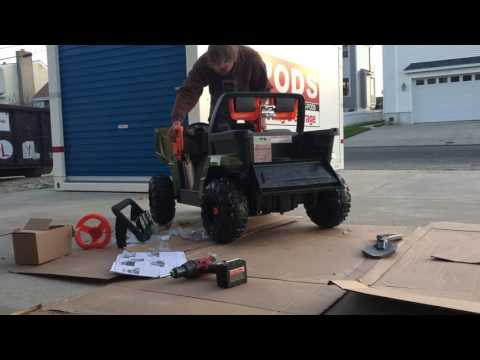 Power Wheels Arctic Cat Unboxing and Assembly