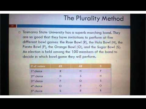 1 2 Plurality Method, Part 1