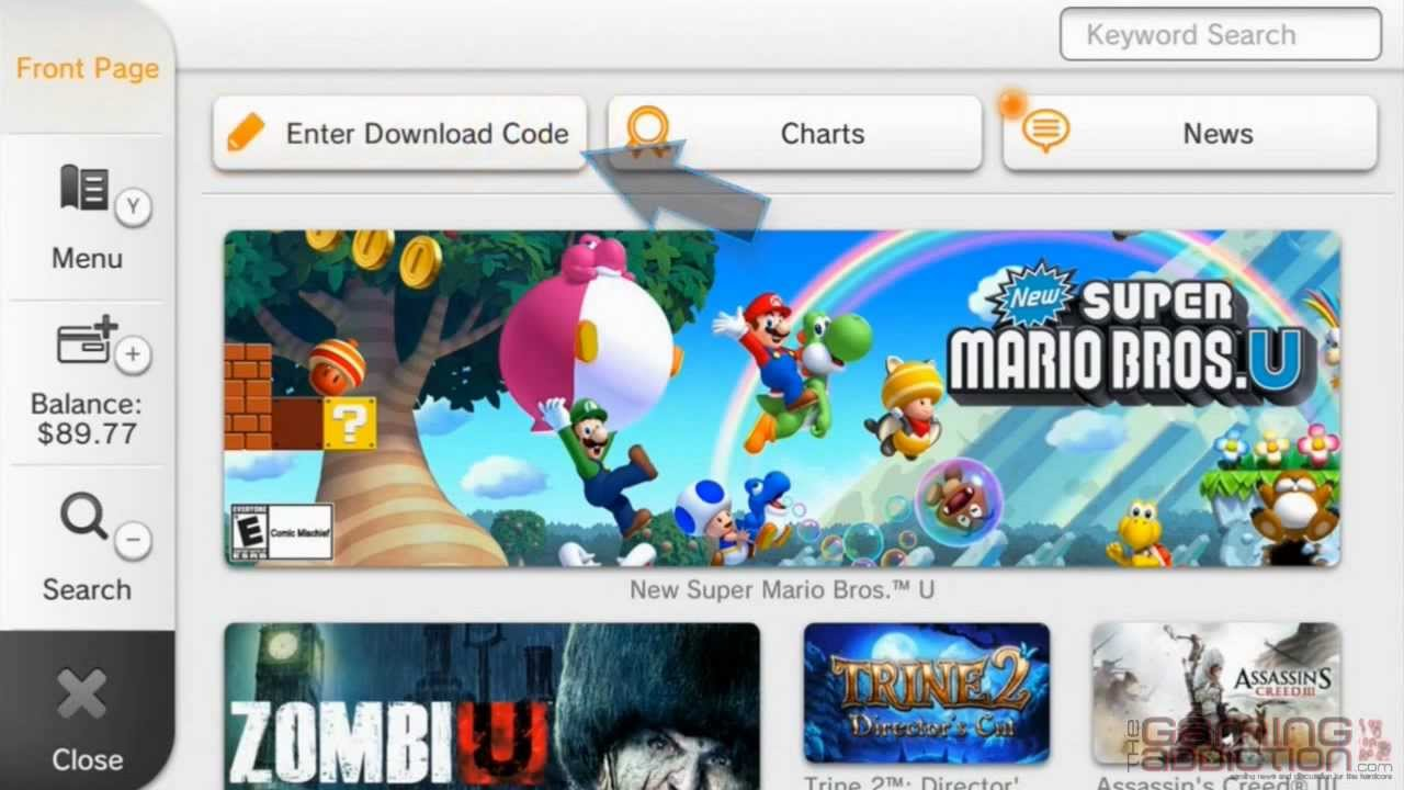 How to redeem your download code for nintendo wii u - Wii U How To How To Redeem A Download Code