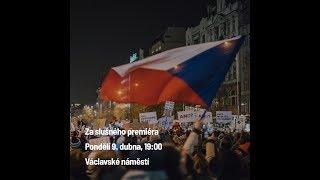 Demonstrace 9. 4. 2018 Praha - Za slušného premiéra a slušnou vládu - Milion Chvilek