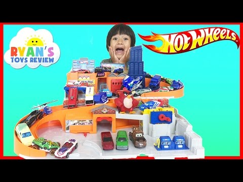 Hot Wheels Sto and Go Play Set Classic Disney Cars Toys for Kids Ryan ToysReview