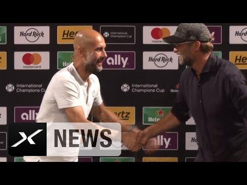 Während Aussage über Leroy Sane: Jürgen Klopp crasht Pep-Guardiola-PK | International Champions Cup