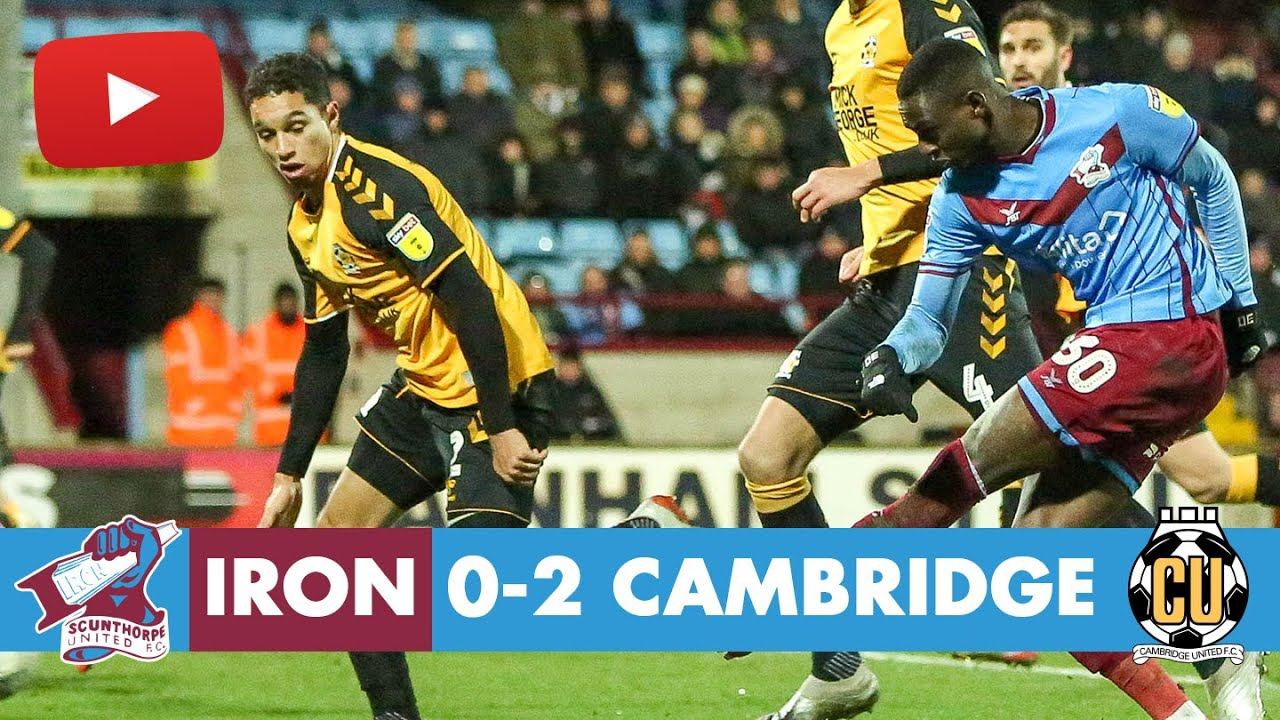Сканторп Юнайтед  0-2  Кембридж Юнайтед видео