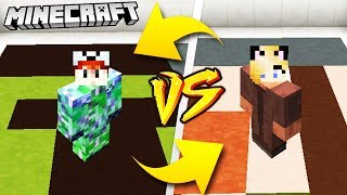 CREEPER VS VILLAGER - MINECRAFT | Vito VS Bella