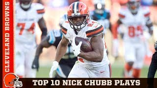 Top 10 Nick Chubb Plays from 2018 | Cleveland Browns